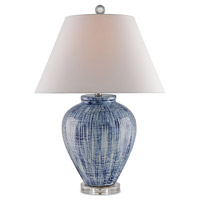 Malaprop 28 inch 150 watt Blue and White Table Lamp Portable Light