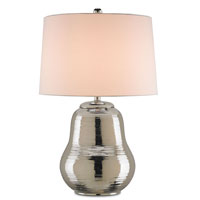 Currey & Company Dorian 1 Light Table Lamp in Polished Nickel 6241