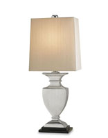 Currey & Company Scholar 1 Light Table Lamp in Nickel/Black 6260