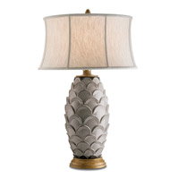 Currey & Company Demitasse 1 Light Table Lamp in Antique White/ Gold 6261