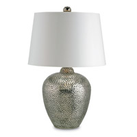 Talisman 28 inch 150 watt Nickel Table Lamp Portable Light