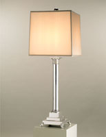 Currey & Company Dispatch 1 Light Table Lamp in White Concrete  6269