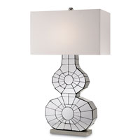 Currey & Company Ronda 1 Light Table Lamp in Polished Nickel 6273