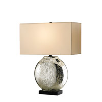 Currey & Company Possibility 1 Light Table Lamp in Silver/ Black 6275