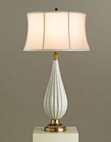 Currey & Company Francois 1 Light Table Lamp in Antique Green Crackle Porcelain 6301