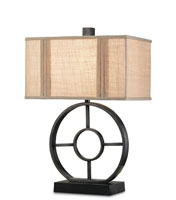 Currey & Company Paxton 1 Light Table Lamp in Antique Black 6302