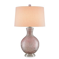 Currey & Company Paradise 1 Light Table Lamp in Light Purple and Polish Nickel 6312