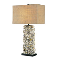 Currey & Company 6332 Lynnhaven 34 inch 150 watt Satin Black/Natural Oyster Table Lamp Portable Light