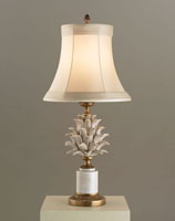 Currey & Company Carciofi 1 Light Table Lamp in Antique White Crackle Porcelain 6336 photo thumbnail