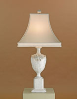 Currey & Company Keepsake 1 Light Table Lamp in Antique White Porcelain 6338