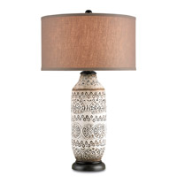 Currey & Company Intarsia 1 Light Table Lamp in Antique Brown 6350