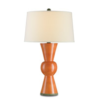 Upbeat 31 inch 150 watt Orange Table Lamp Portable Light