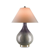Currey & Company Nightsea 1 Light Table Lamp in Mercury Gray and Nickel 6352