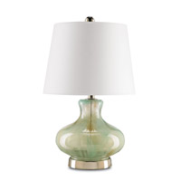 Currey & Company Bellwether 1 Light Table Lamp in Spring Green 6354