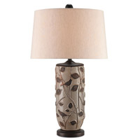 Woodcliffe 33 inch 150 watt Gray and Brown and Distressed Brown Table Lamp Portable Light