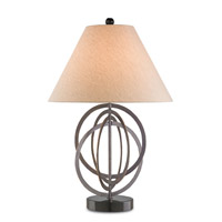 Currey & Company Continunum 1 Light Table Lamp in Bronze Gold and Black 6361