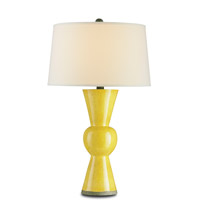 Upbeat 31 inch 150 watt Yellow Table Lamp Portable Light