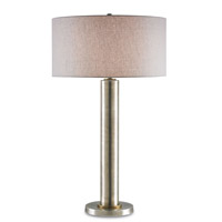 Currey & Company Tiverton 1 Light Table Lamp in Antique Silver 6398