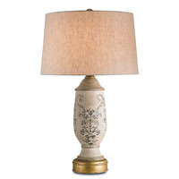 Currey & Company Chandler 1 Light Table Lamp in Antique Brass 6400