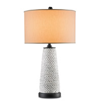 Currey & Company Seafellow 1 Light Table Lamp in Antique Gray and Antique Black 6402