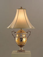 Currey & Company Tzarina 1 Light Table Lamp in Antique White And Gold Porcelain 6410 photo thumbnail