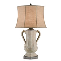 Currey & Company Alcovy 1 Light Table Lamp in Portland and Aged Steel 6411