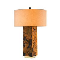 Currey & Company Marchmain 2 Light Table Lamp in Tiger Penshell Crackle 6417