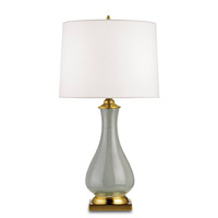 Lynton 31 inch 150 watt Grey Crackle/Brass Table Lamp Portable Light
