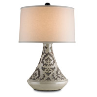Currey & Company Tagine 1 Light Table Lamp in Gray Arabesque 6427