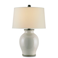 Currey & Company 6432 Fittleworth 30 inch 150 watt Feather Gray Table Lamp Portable Light