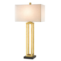 Westlake 34 inch 150 watt Contemporary Gold Leaf and Black Penshell Crackle Table Lamp Portable Light