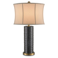 Beacon 29 inch 150 watt Black and Antique Brass Table Lamp Portable Light