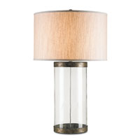 Currey & Company Glasshouse 1 Light Table Lamp in Dirty Silver 6464