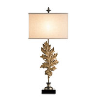Currey & Company Autumn 1 Light Console Lamp in Dirty Silve and Antiquity Gold 6467