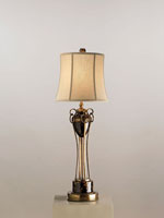 Currey & Company Ruskin 1 Light Table Lamp in Black Tortoise 6468