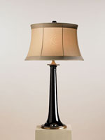 Currey & Company Opportunity 1 Light Table Lamp in Black/Brass 6474 photo thumbnail