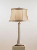 Currey & Company Opportunity 1 Light Table Lamp in White Crackle/Brass 6475