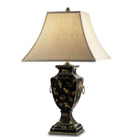 Currey & Company Desmond 1 Light Table Lamp in Black Tortoise/Brass 6489