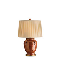 Currey & Company Beasley 1 Light Table Lamp in Brick Tortoise/Brass 6492 photo thumbnail