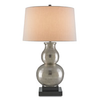 Nora 33 inch 150 watt Nickel and Black Table Lamp Portable Light