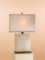 Currey & Company Tristan 1 Light Table Lamp in Ivory/Brass 6497