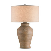 Currey & Company Sandstorm 1 Light Table Lamp in Italian Antique Wash and Old Rust 6513