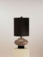 Currey & Company Andalucia 1 Light Table Lamp in Brown Shagreen 6527