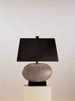 Currey & Company Luxor 1 Light Table Lamp in Brown Shagreen 6528 photo thumbnail