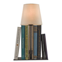 Oldknow 16 inch 25 watt Polished Concrete and Aged Steel Bookcase Lamp Portable Light