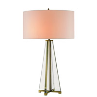 Lamont 30 inch 75 watt Brass/Clear Optic Crystal Table Lamp Portable Light