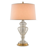Currey & Company Farrah 1 Light Table Lamp in Mercury Glass and Gold 6570
