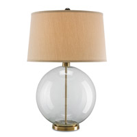 Courtland 31 inch 150 watt Clear and Coffee Bronze Table Lamp Portable Light