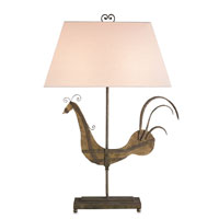 Currey & Company Road Runner 2 Light Table Lamp in Natural and Shirley Rust 6612