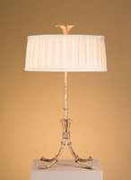 Currey & Company Bamboo 2 Light Desk Lamp in Gold Leaf 6631